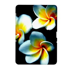 Flowers Black White Bunch Floral Samsung Galaxy Tab 2 (10 1 ) P5100 Hardshell Case