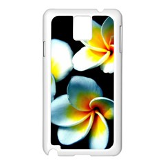 Flowers Black White Bunch Floral Samsung Galaxy Note 3 N9005 Case (White)