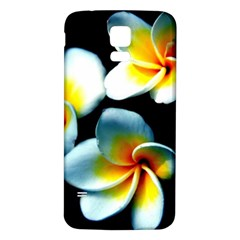 Flowers Black White Bunch Floral Samsung Galaxy S5 Back Case (White)