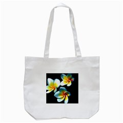 Flowers Black White Bunch Floral Tote Bag (White)