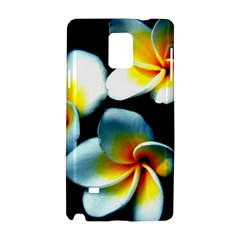 Flowers Black White Bunch Floral Samsung Galaxy Note 4 Hardshell Case