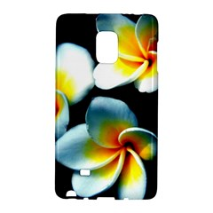 Flowers Black White Bunch Floral Galaxy Note Edge