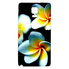 Flowers Black White Bunch Floral Galaxy Note 4 Back Case