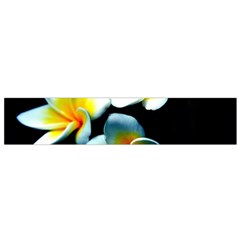 Flowers Black White Bunch Floral Flano Scarf (Small)