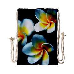 Flowers Black White Bunch Floral Drawstring Bag (Small)