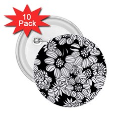 Mandala Calming Coloring Page 2 25  Buttons (10 Pack)