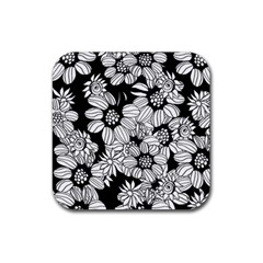 Mandala Calming Coloring Page Rubber Coaster (square)