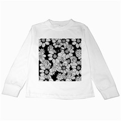 Mandala Calming Coloring Page Kids Long Sleeve T-Shirts