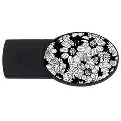 Mandala Calming Coloring Page Usb Flash Drive Oval (4 Gb)