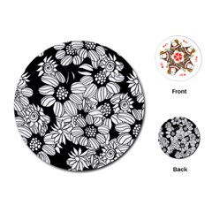 Mandala Calming Coloring Page Playing Cards (Round)