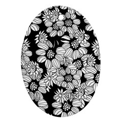 Mandala Calming Coloring Page Oval Ornament (Two Sides)
