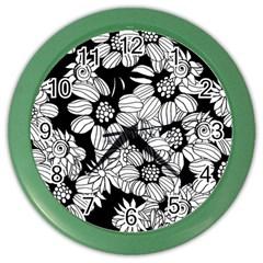 Mandala Calming Coloring Page Color Wall Clocks