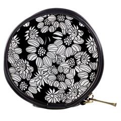 Mandala Calming Coloring Page Mini Makeup Bags