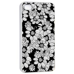 Mandala Calming Coloring Page Apple Iphone 4/4s Seamless Case (white)