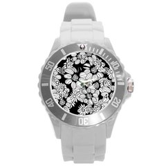 Mandala Calming Coloring Page Round Plastic Sport Watch (l)