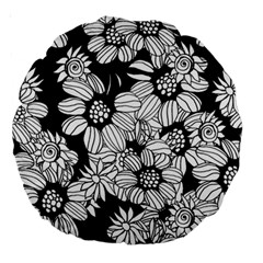 Mandala Calming Coloring Page Large 18  Premium Round Cushions