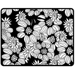 Mandala Calming Coloring Page Double Sided Fleece Blanket (medium)