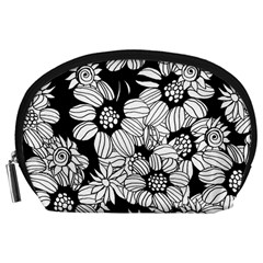 Mandala Calming Coloring Page Accessory Pouches (Large)
