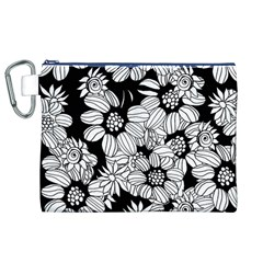Mandala Calming Coloring Page Canvas Cosmetic Bag (xl)