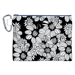 Mandala Calming Coloring Page Canvas Cosmetic Bag (XXL)