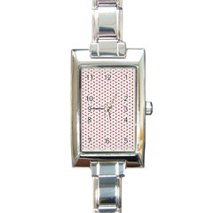 Motif Pattern Decor Backround Rectangle Italian Charm Watch