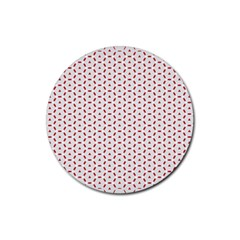 Motif Pattern Decor Backround Rubber Round Coaster (4 Pack)