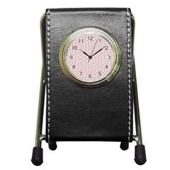 Motif Pattern Decor Backround Pen Holder Desk Clocks