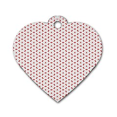 Motif Pattern Decor Backround Dog Tag Heart (two Sides)