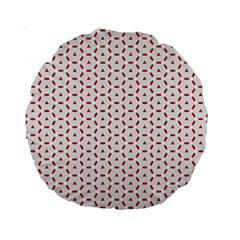 Motif Pattern Decor Backround Standard 15  Premium Round Cushions
