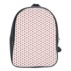 Motif Pattern Decor Backround School Bags (xl)