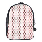 Motif Pattern Decor Backround School Bags (XL)  Front