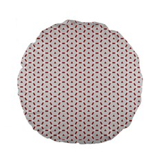 Motif Pattern Decor Backround Standard 15  Premium Flano Round Cushions