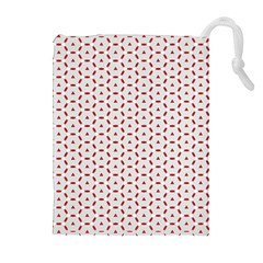 Motif Pattern Decor Backround Drawstring Pouches (Extra Large)