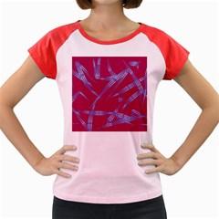 Background Vector Texture Pattern Women s Cap Sleeve T-Shirt