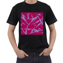 Background Vector Texture Pattern Men s T-Shirt (Black) (Two Sided)