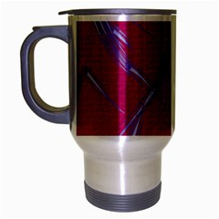 Background Vector Texture Pattern Travel Mug (silver Gray)