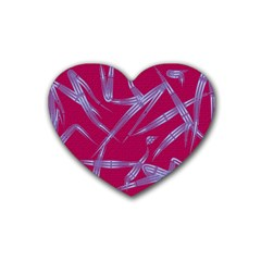 Background Vector Texture Pattern Rubber Coaster (Heart)