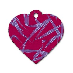 Background Vector Texture Pattern Dog Tag Heart (Two Sides)