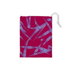 Background Vector Texture Pattern Drawstring Pouches (Small)