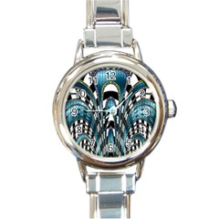 Abstract Art Design Texture Round Italian Charm Watch
