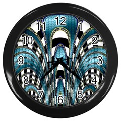 Abstract Art Design Texture Wall Clocks (black)
