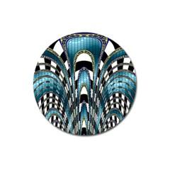 Abstract Art Design Texture Magnet 3  (Round)