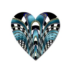 Abstract Art Design Texture Heart Magnet