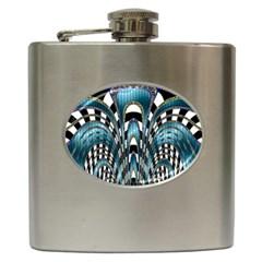 Abstract Art Design Texture Hip Flask (6 oz)
