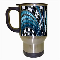 Abstract Art Design Texture Travel Mugs (white)