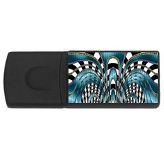 Abstract Art Design Texture Usb Flash Drive Rectangular (4 Gb)