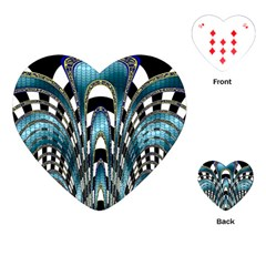 Abstract Art Design Texture Playing Cards (heart)