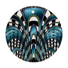 Abstract Art Design Texture Round Ornament (two Sides)