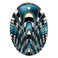 Abstract Art Design Texture Oval Ornament (two Sides)
