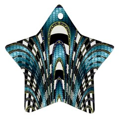 Abstract Art Design Texture Star Ornament (Two Sides)